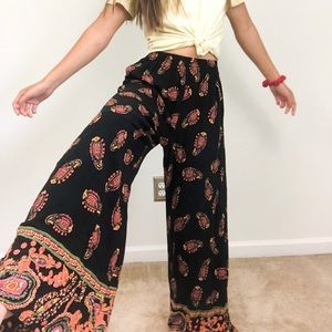 Band Of Gypsies Wide leg flare Hobo Pants Sz XS